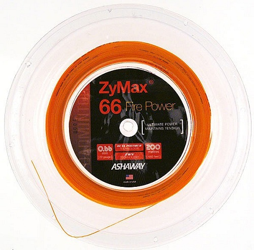 Ashaway ZyMax 69 Fire Badminton String Reel-Fire Orange